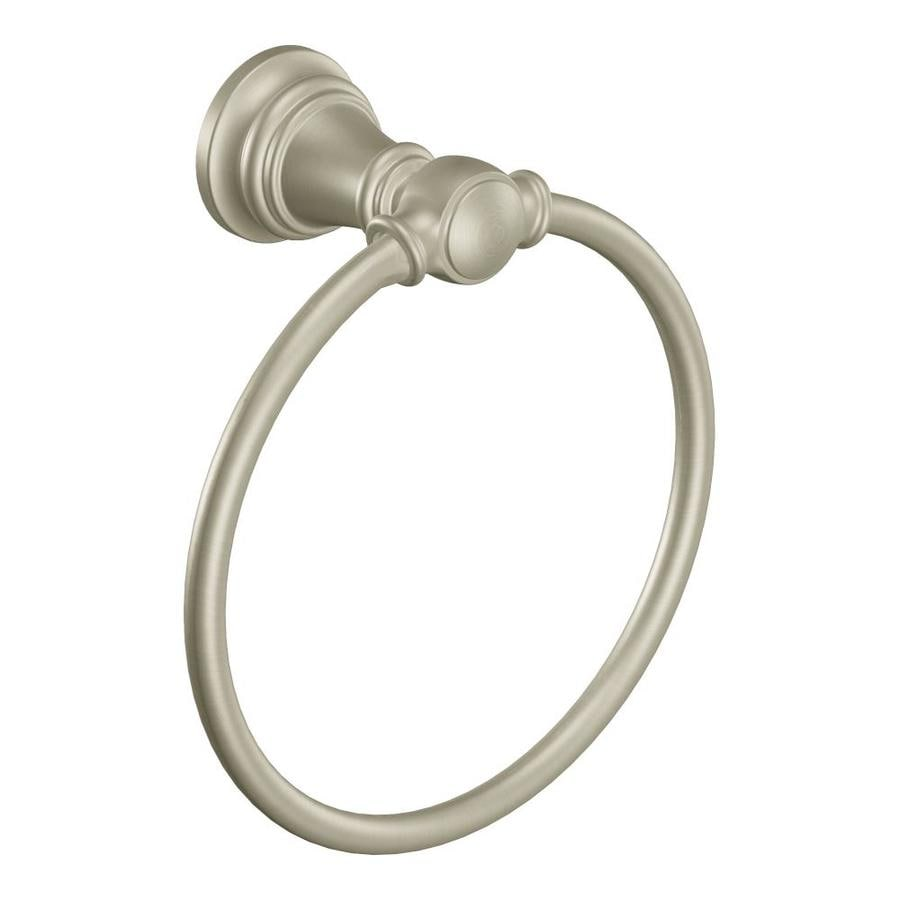 Moen Weymouth Brushed Nickel Wall Mount Towel Ring