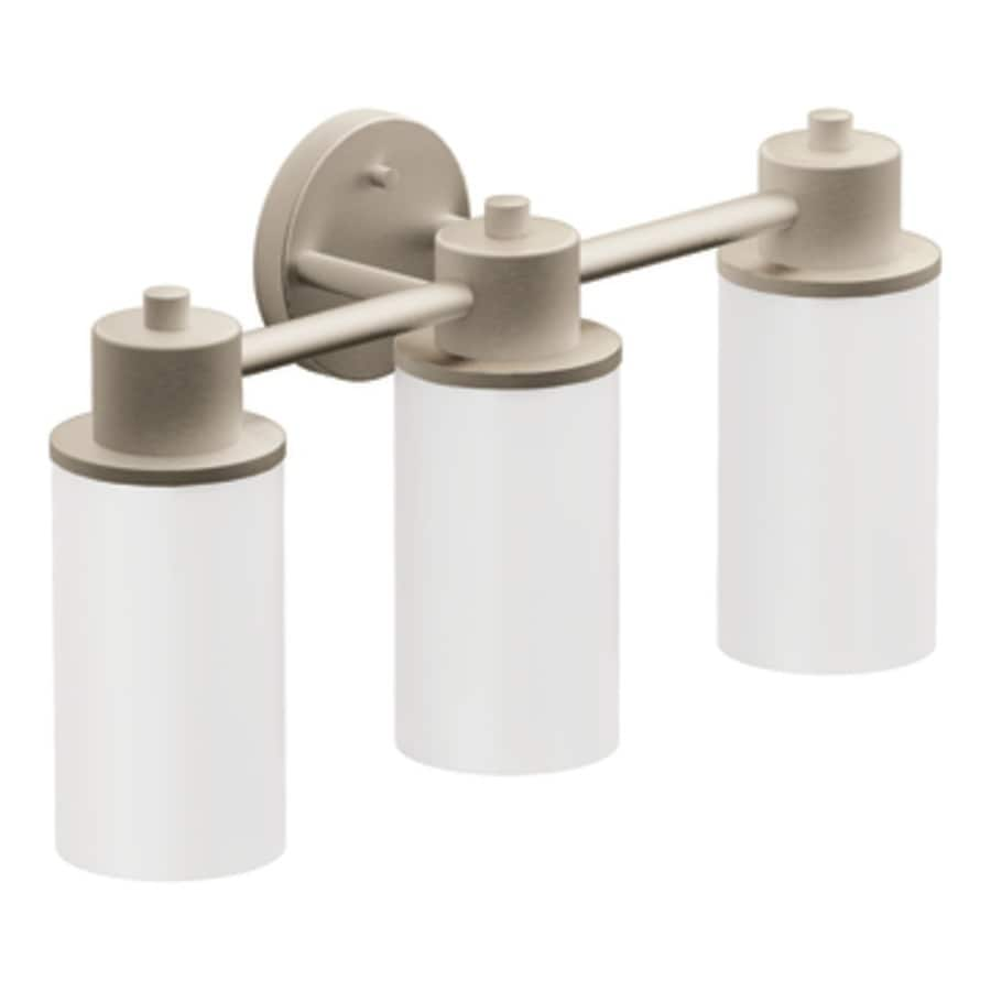 Moen Yb9863bn Waterhill Three Globe Bath Light Brushed Nickel: Moen Iso 3-Light 11.02-in Brushed Nickel Globe Vanity Light At Lowes.com
