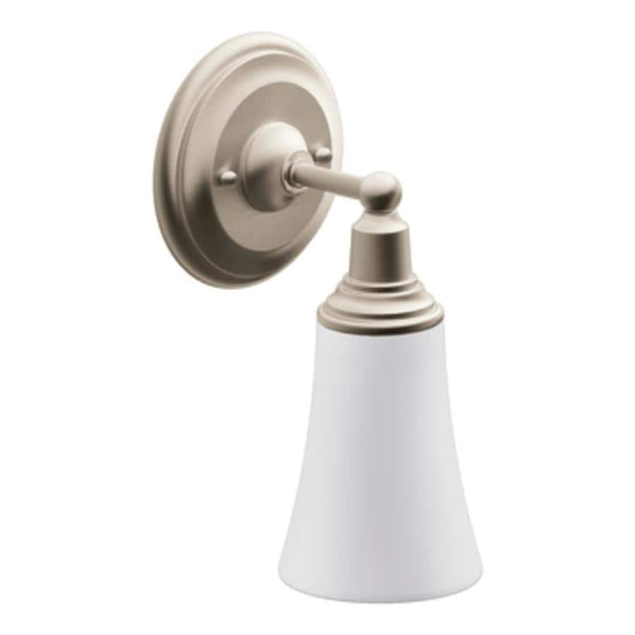 Moen Brushed Nickel Vanity Lights : Shop Moen Rothbury 1-Light 10.5-in Brushed Nickel Globe Vanity Light at Lowes.com