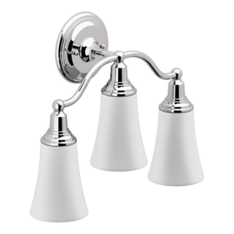 Shop Moen Rothbury 3 Light Chrome Globe Vanity Light At