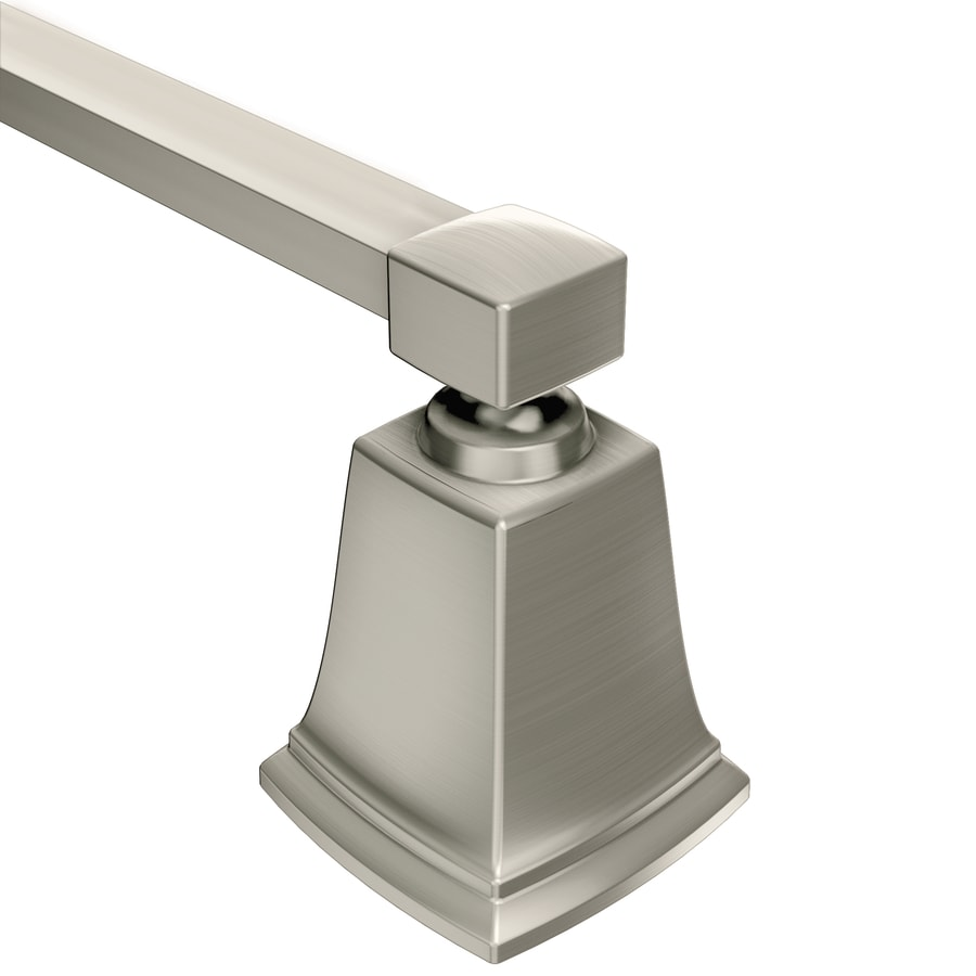 Moen Boardwalk Spot Resist Brushed Nickel Single Towel Bar (Common: 24-in; Actual: 26.06-in)