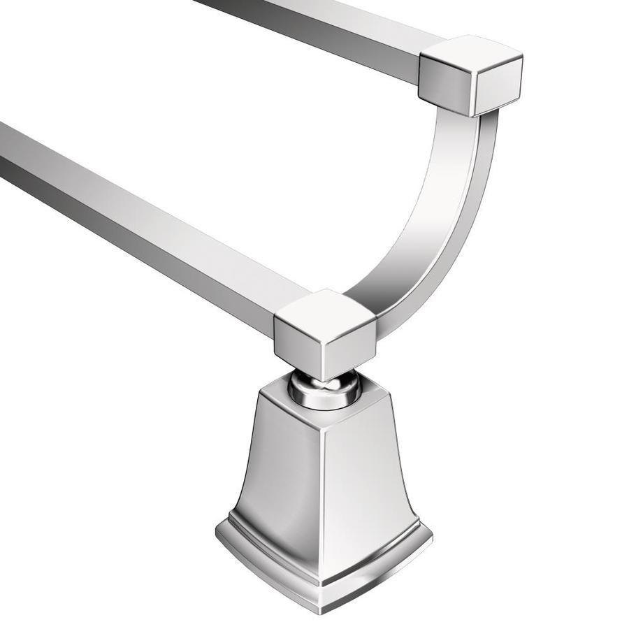 Moen Boardwalk Chrome Double Towel Bar (Common: 24-in; Actual: 26.06-in)