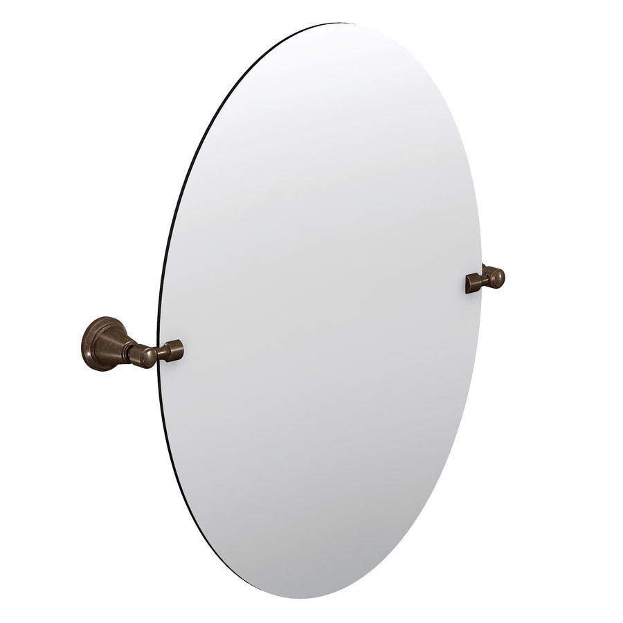 Shop Moen Gilcrest Oil Rubbed Bronze Oval Bathroom Mirror At