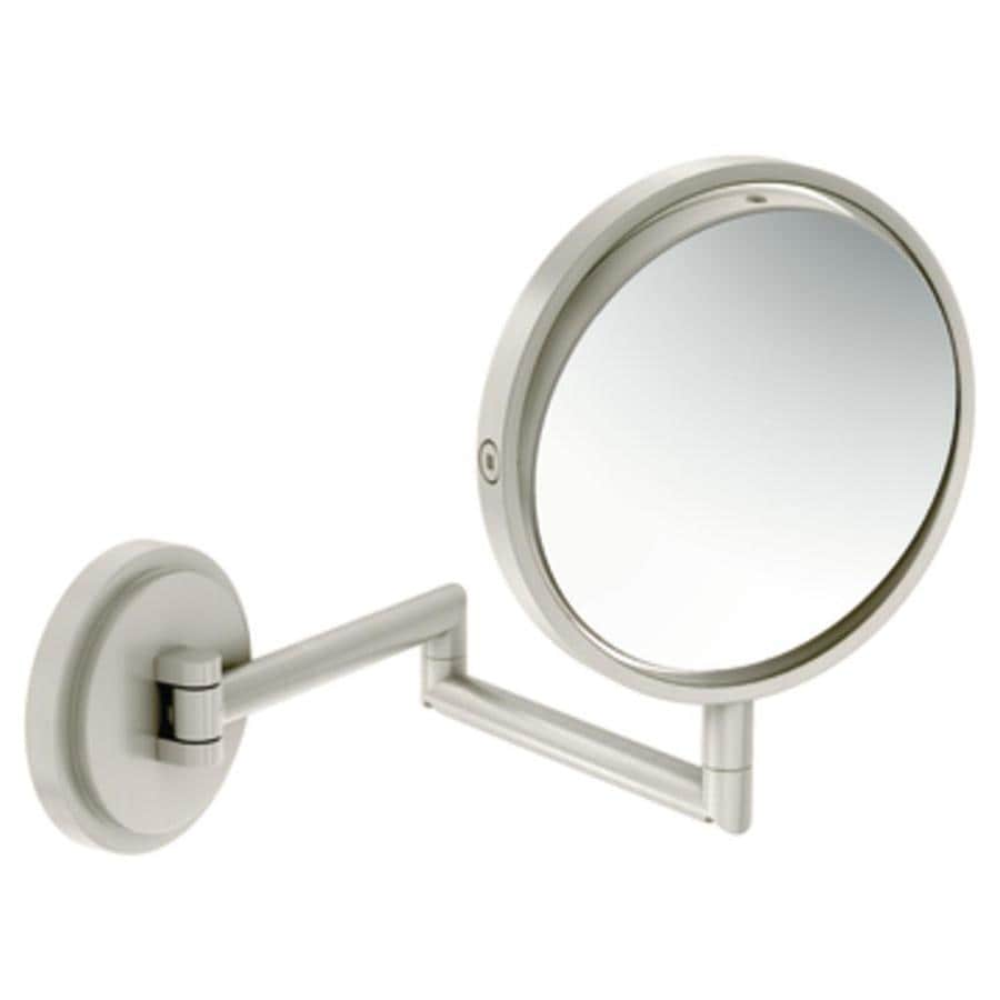 Shop Moen Arris Nickel Zinc Magnifying Wall-Mounted Vanity Mirror at ...