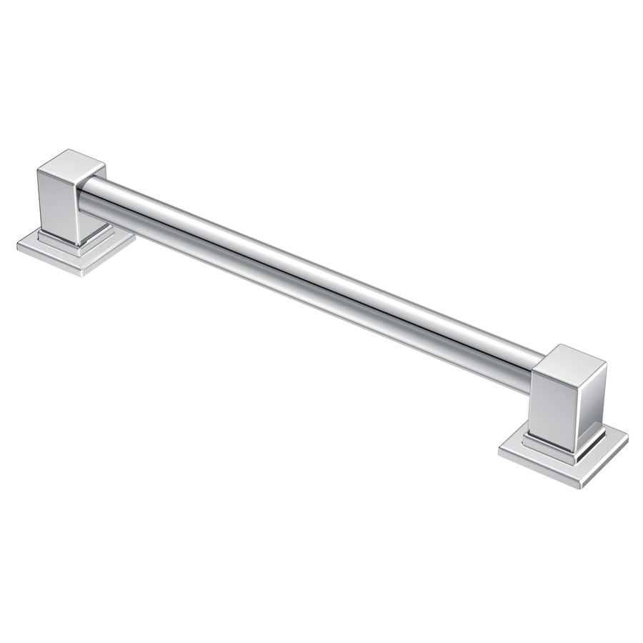 Moen 90 Degree 12-in Chrome Wall Mount Grab Bar