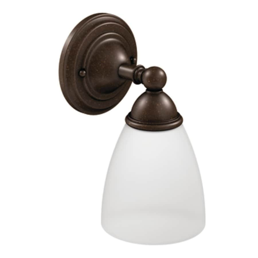 Moen Brantford 1-Light 10.19-in Oil rubbed bronze Globe Vanity Light