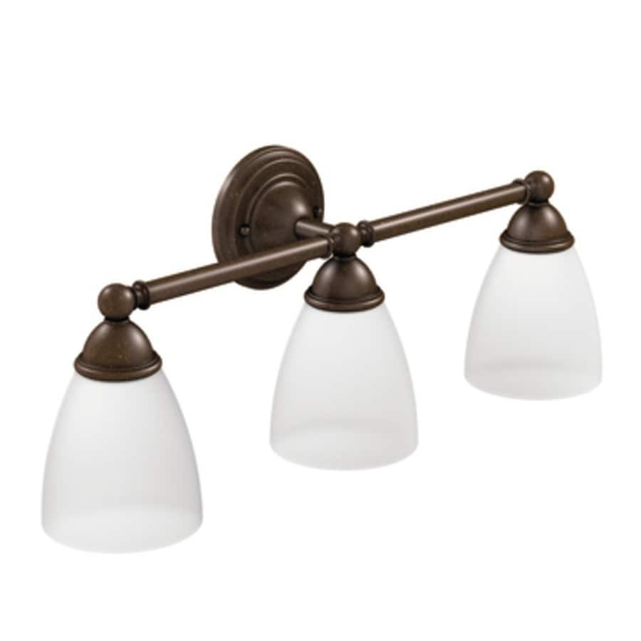 Moen Brantford 3-Light 10.19-in Oil Rubbed Bronze Globe Vanity Light