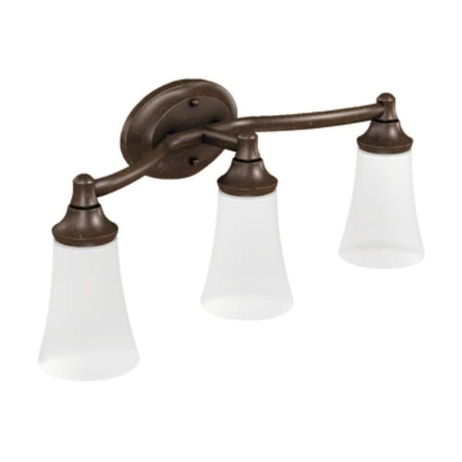 Moen Eva 3-Light 9.57-in Oil Rubbed Bronze Globe Vanity Light