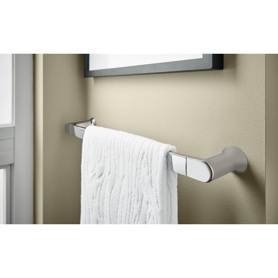 "Moen BH3818CH Genta 18/"" Wall Mounted Towel Bar Chrome"
