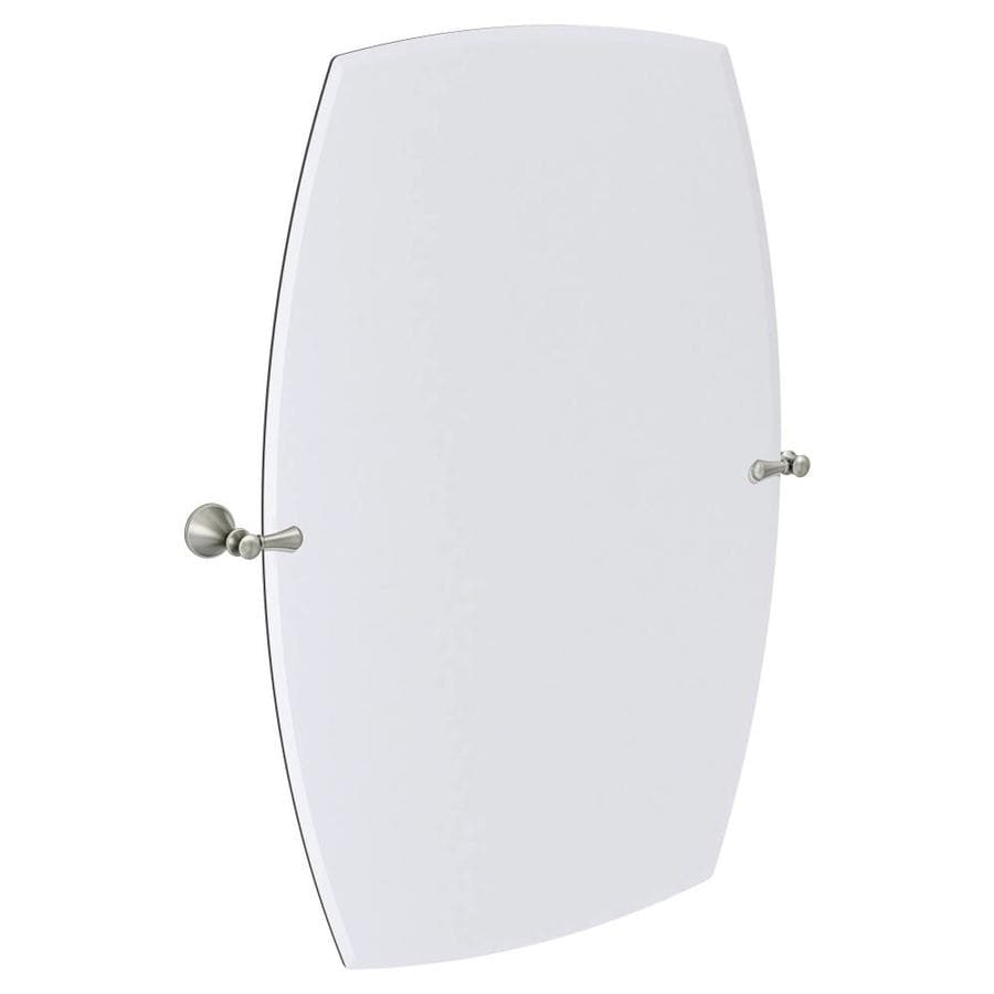Bathroom Tilt Mirrors Shop Moen Rockcliff Extra Large 283 In X 36 In Rectangular