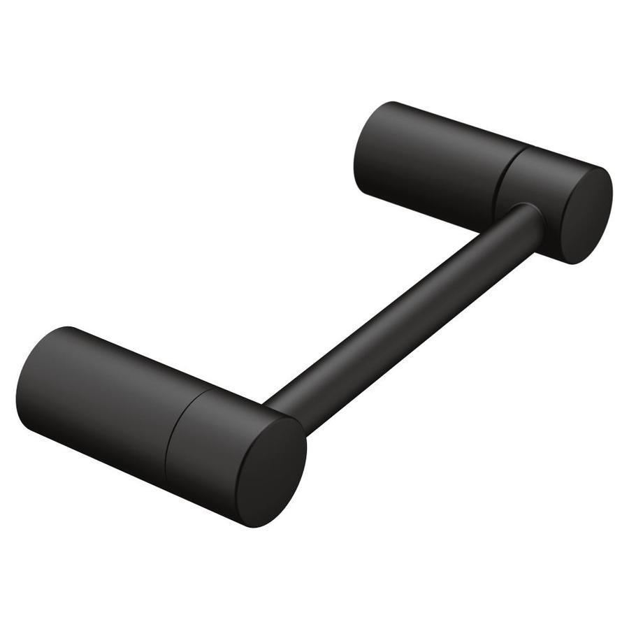 Moen Align Matte Black Surface Mount Pivot Toilet Paper Holder