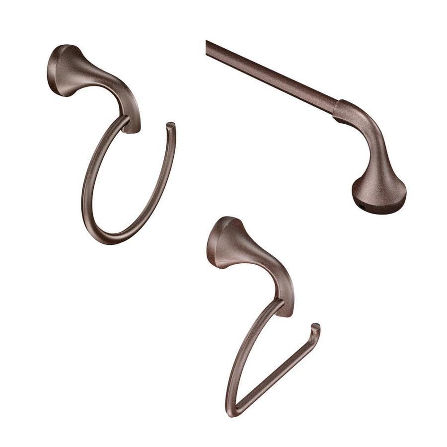 Moen 3-Piece Eva Oil-Rubbed Bronze Decorative Bathroom Hardware Set