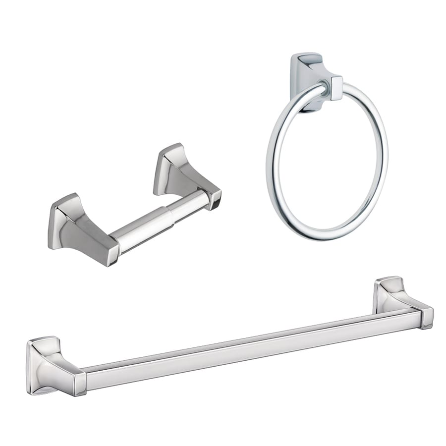 Moen 3 Piece Adler Chrome Decorative Bathroom Hardware Set