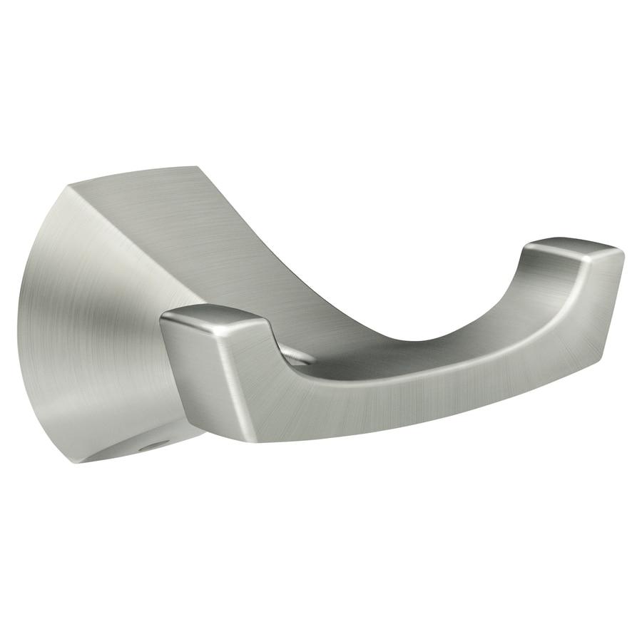 Moen Lindor 2-Hook Brushed Nickel Towel Hook At Lowes.com