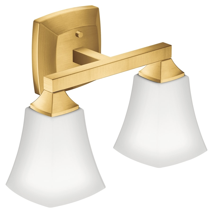 Moen The Voss Collection 2 Light 9 5 Brushed Gold