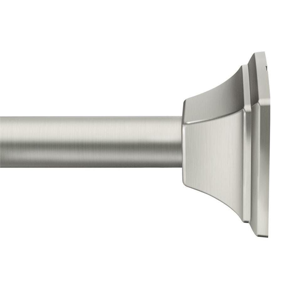 Moen 44 In To 72 In Brushed Nickel Tension Single Straight Shower Rod In The Shower Rods Department At Lowes Com