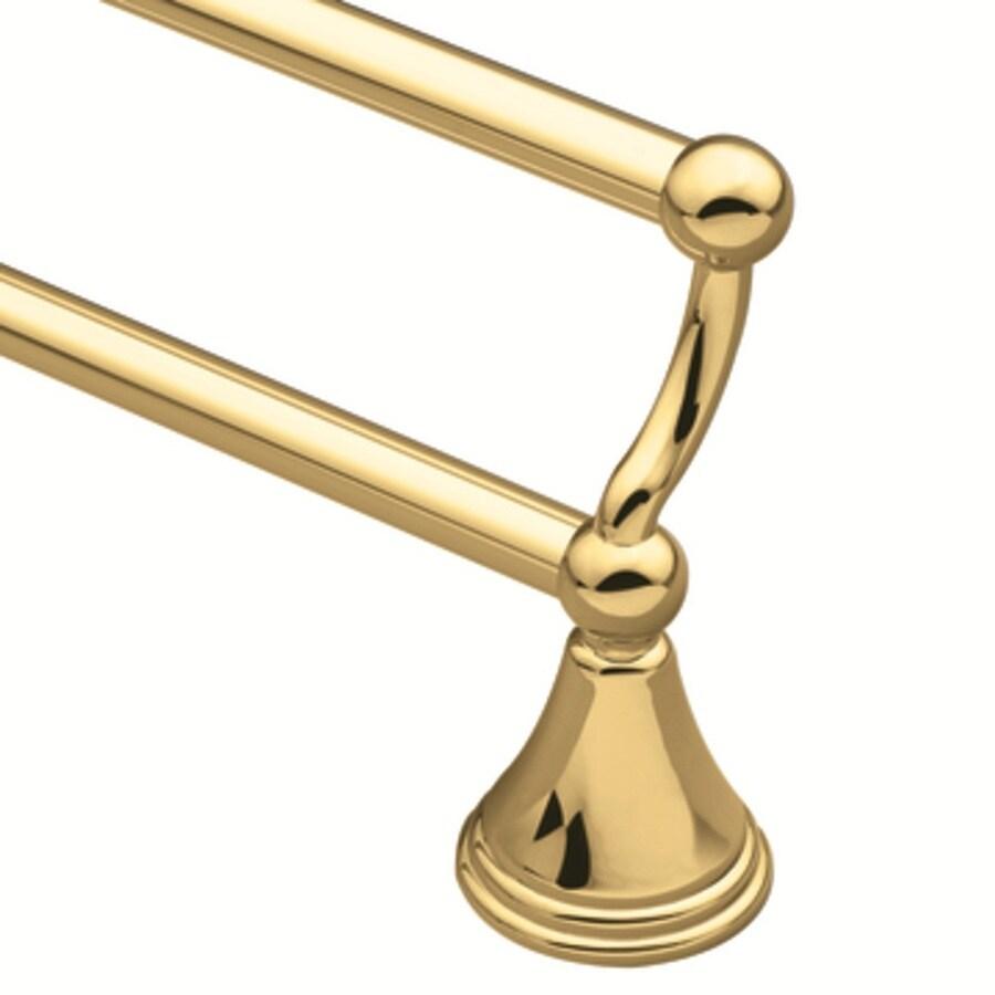 """Moen 24"""" Preston Polished Brass Double Towel Bar"""