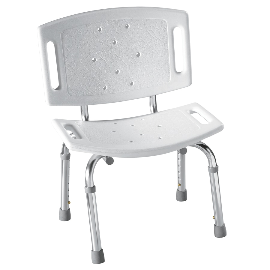 Shop Moen Glacier Plastic Freestanding Shower Chair at Lowes.com