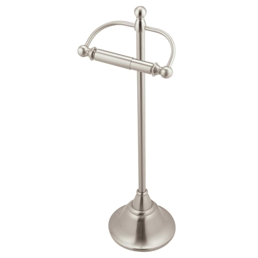 Modern toilet paper holders free standing - Moen Sage Brushed Nickel Freestanding Floor Toilet Paper Holder
