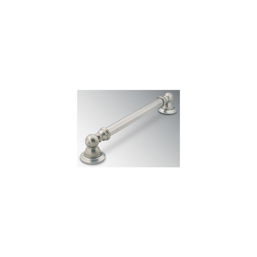 Moen 12-in Brushed Nickel Wall Mount Grab Bar