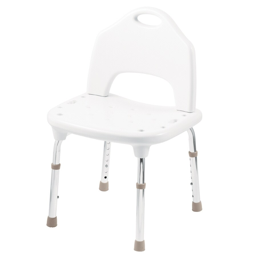 Moen Home Care White Plastic Freestanding Shower Chair