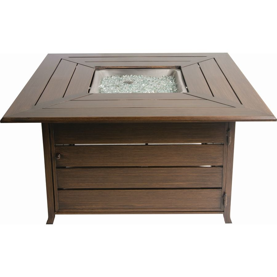 Shop gas fire pits at lowes bond 4488 in w 50000 btu bronze aluminum liquid propane fire table geotapseo Image collections