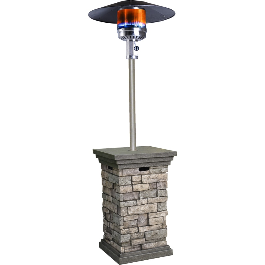 Bond 42,000-BTU Stone Composite Liquid Propane Patio Heater - Shop Bond 42,000-BTU Stone Composite Liquid Propane Patio Heater