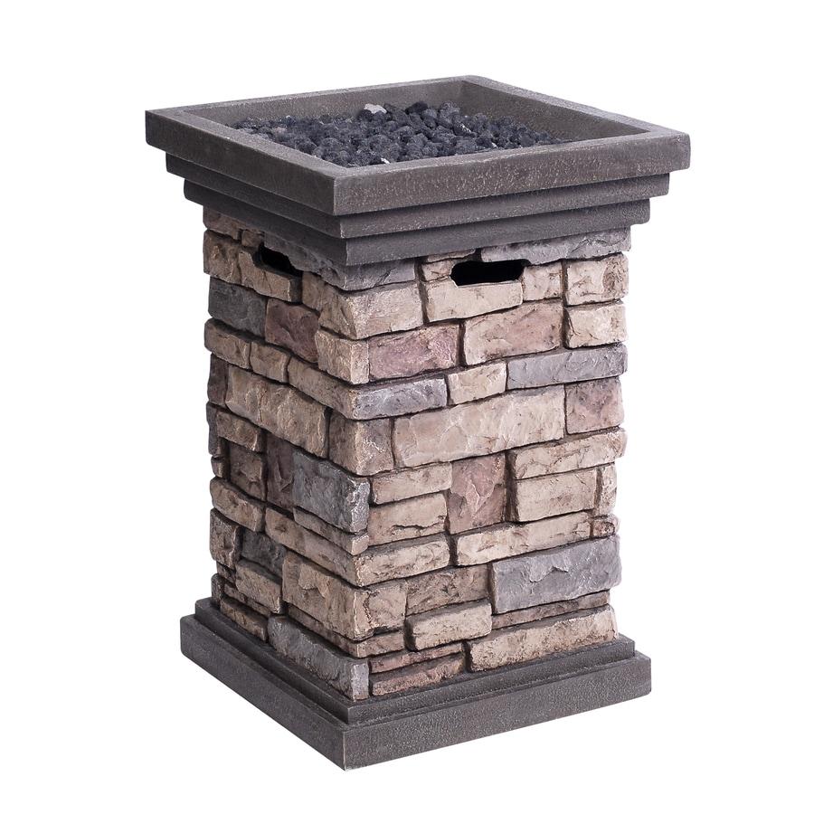 Shop Allen Roth Canyon Ridge W 30 000 Btu Stone Design Composite Propane Gas Fire