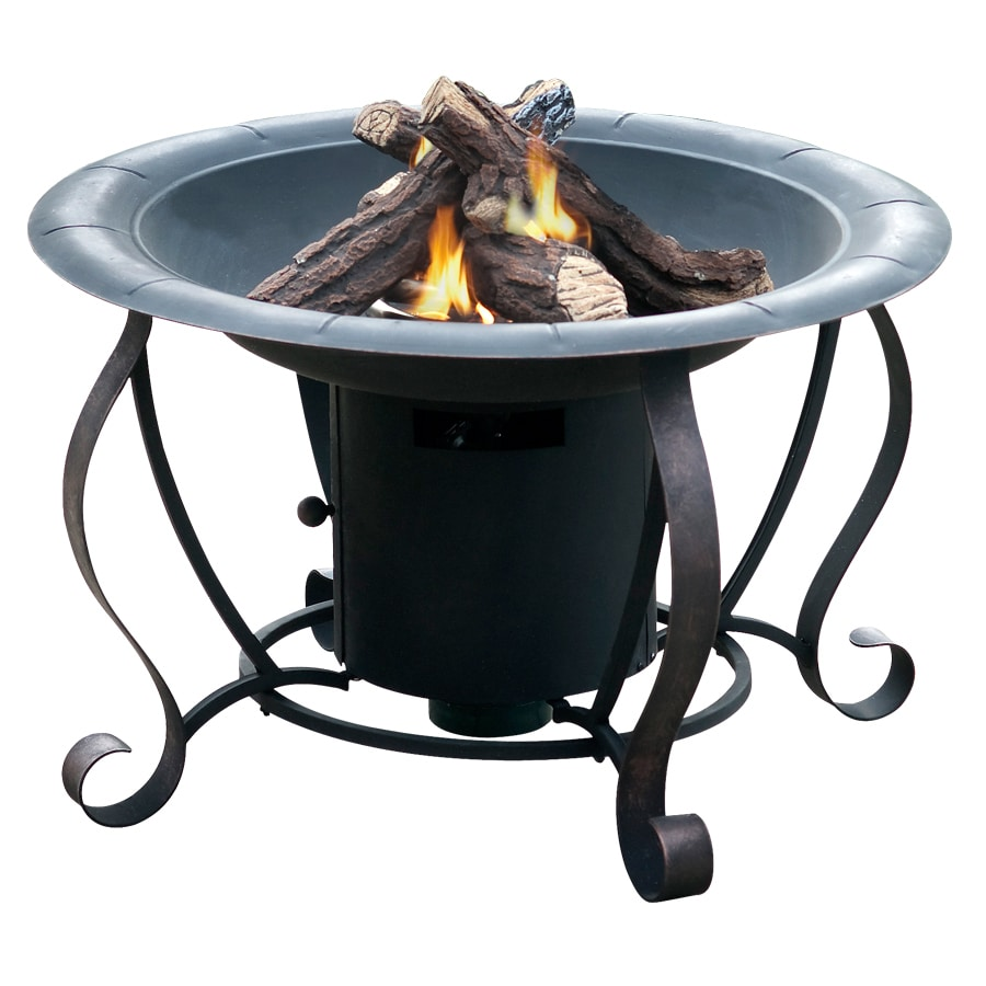 Nice Bond 27.95 In W 20,000 BTU Black Steel Propane Gas Fire Pit