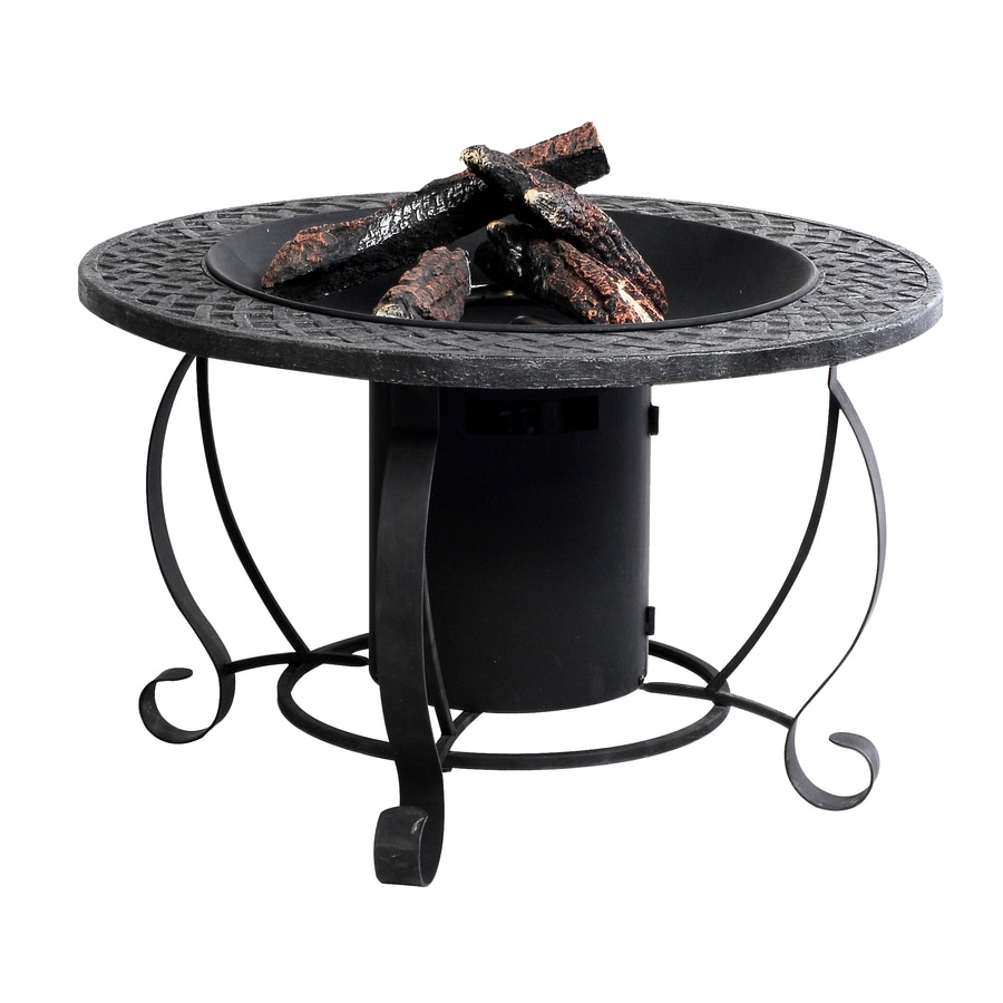 Garden Treasures 29.92-in W 20,000-BTU Charcoal Steel Propane Gas Fire Pit