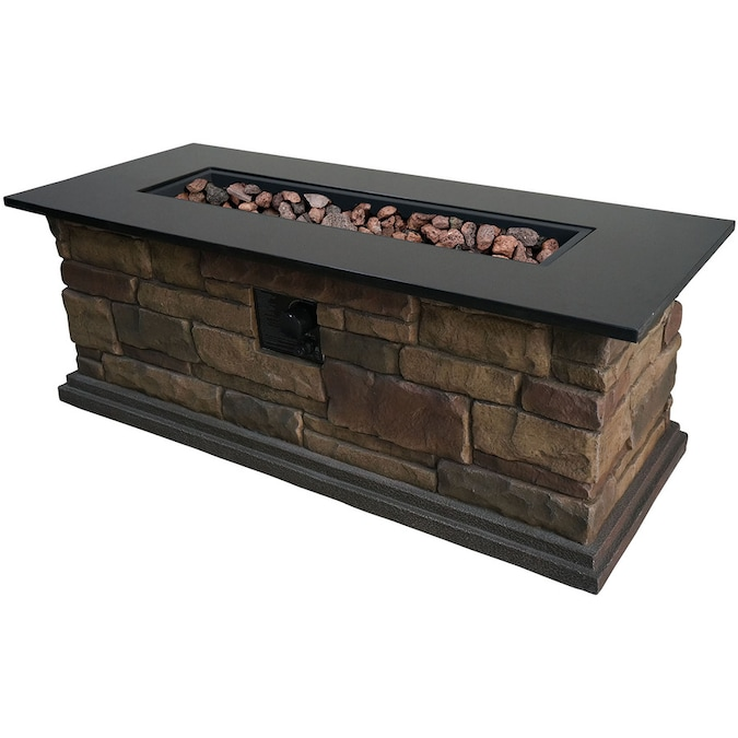 Bond Canyon Ridge 20 In W 50000 Btu Stone Look Composite Propane Gas Fire Table The Pits Department At Lowes
