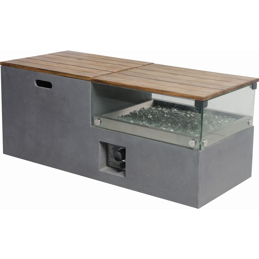 Captivating Bond 20 In W 50,000 BTU Gray Composite Liquid Propane Fire Table