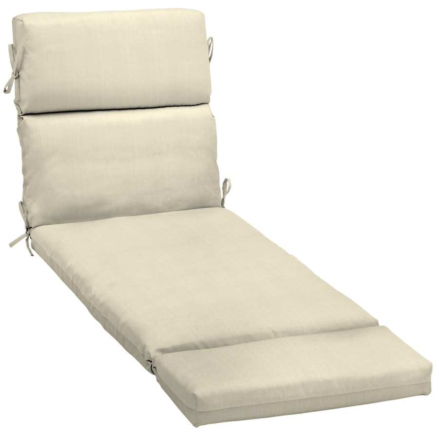 Shop 73 in l x 23 in w sunbrella canvas solid patio chaise for 23 w outdoor cushion for chaise