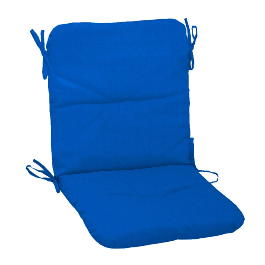 sunbrella sunbrella pacific blue sunbrella pacific blue patio chair cushion at. Black Bedroom Furniture Sets. Home Design Ideas