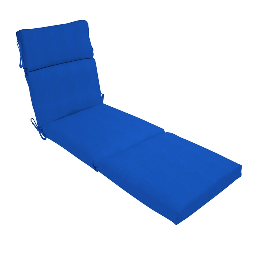 Shop pacific blue patio chaise lounge cushion at for Blue chaise cushions