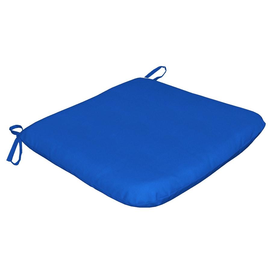 Sunbrella Sunbrella Pacific Blue Solid Reversible Outdoor Seat Pad