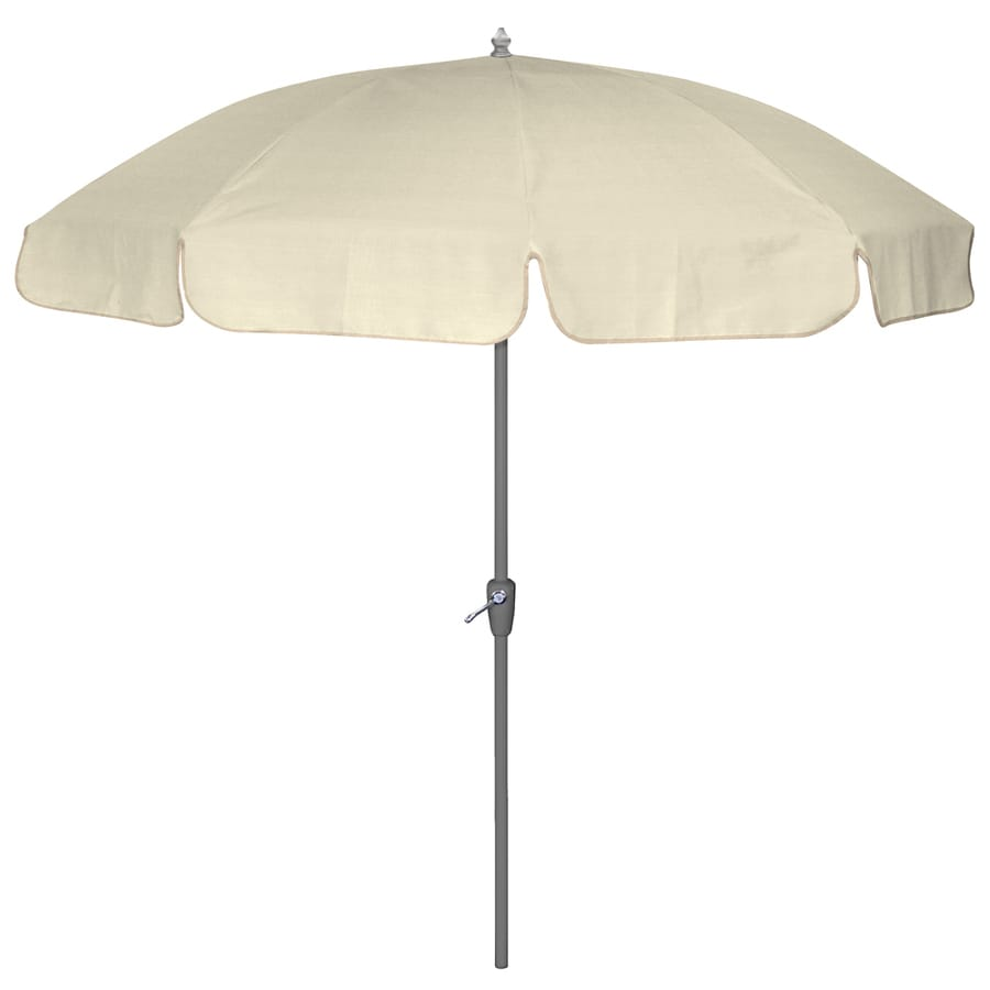 Perfect 7 Ft 6 In Sunbrella Canvas Round Patio Umbrella