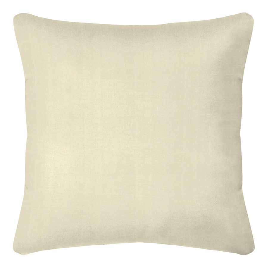 Shop Sunbrella White Canvas Pillow Cushion At