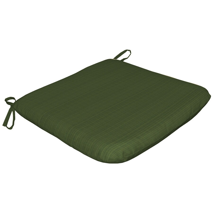 Sunbrella Sunbrella Dupione Palm Green Solid Reversible Outdoor Seat Pad