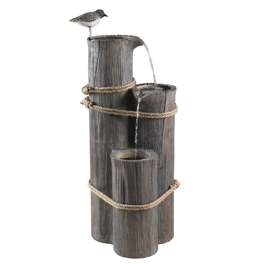 Garden Treasures Sandpiper 3-Tier Outdoor Fountain with Pump