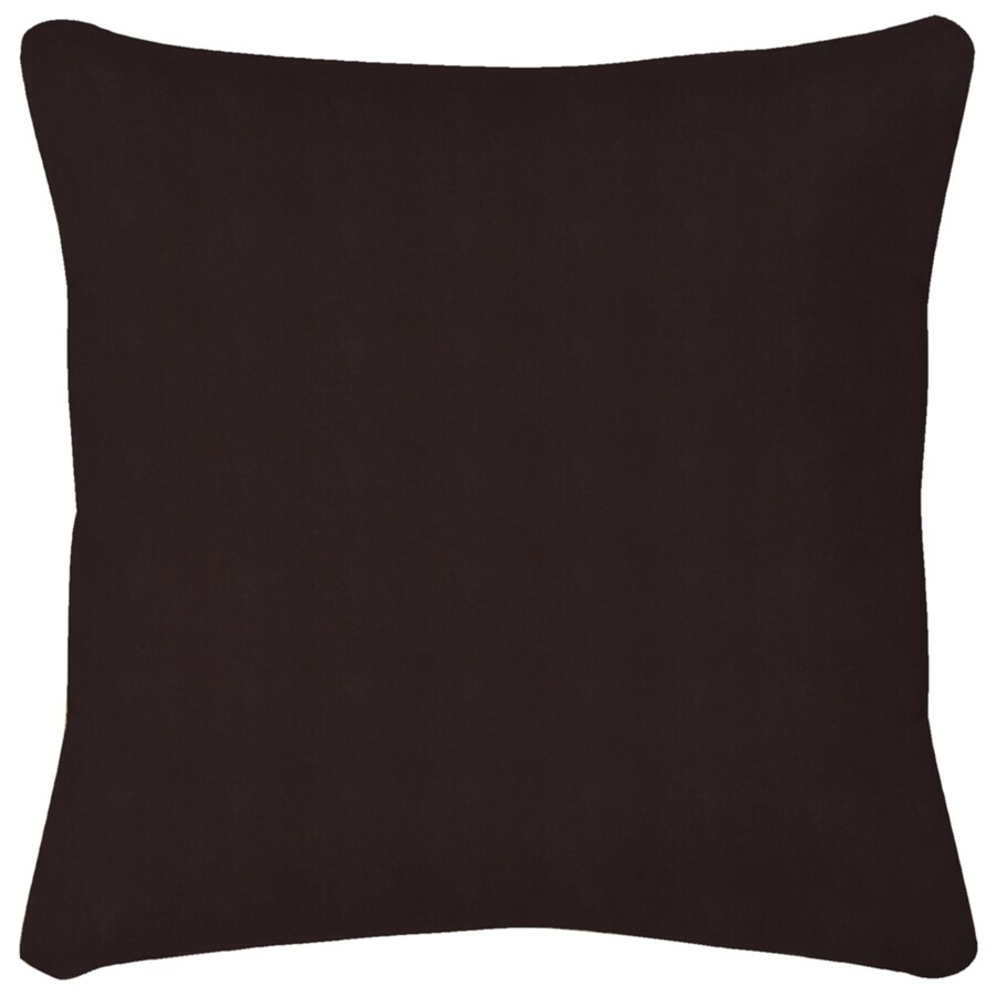 Black Solid Reversible UV-Protected Outdoor Accent Pillow
