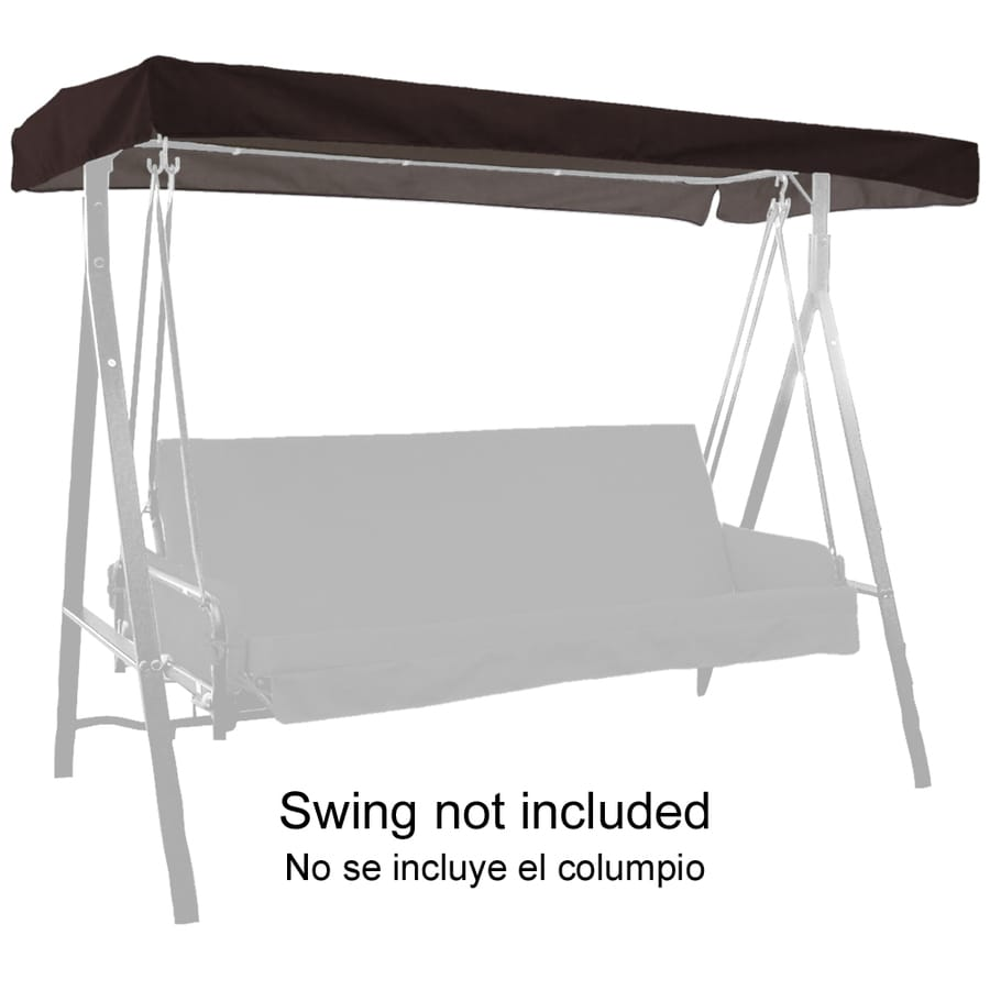 """44""""L x 85-1/2""""W Black Solid UV-Protected Canopy"""
