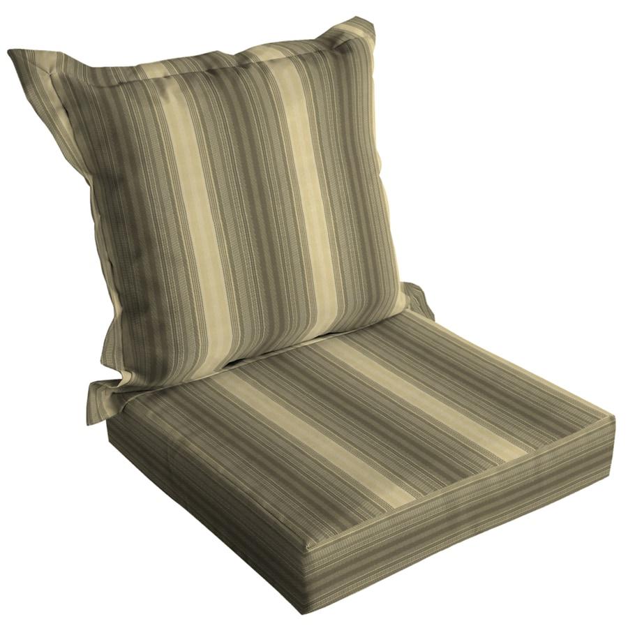 Arden Outdoor Maxwell Stripe Reversible Indoor Outdoor Chair Cushion