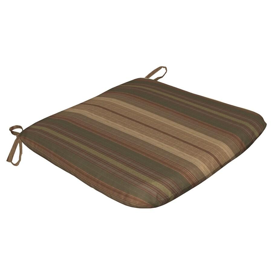 Arden Outdoor StripedGreen Reversible Outdoor Seat Pad