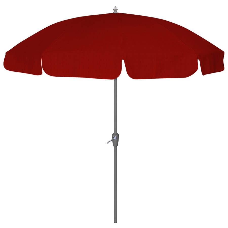 Arden Outdoor 7 5 Acrylic Dupione Crimson Patio Umbrella