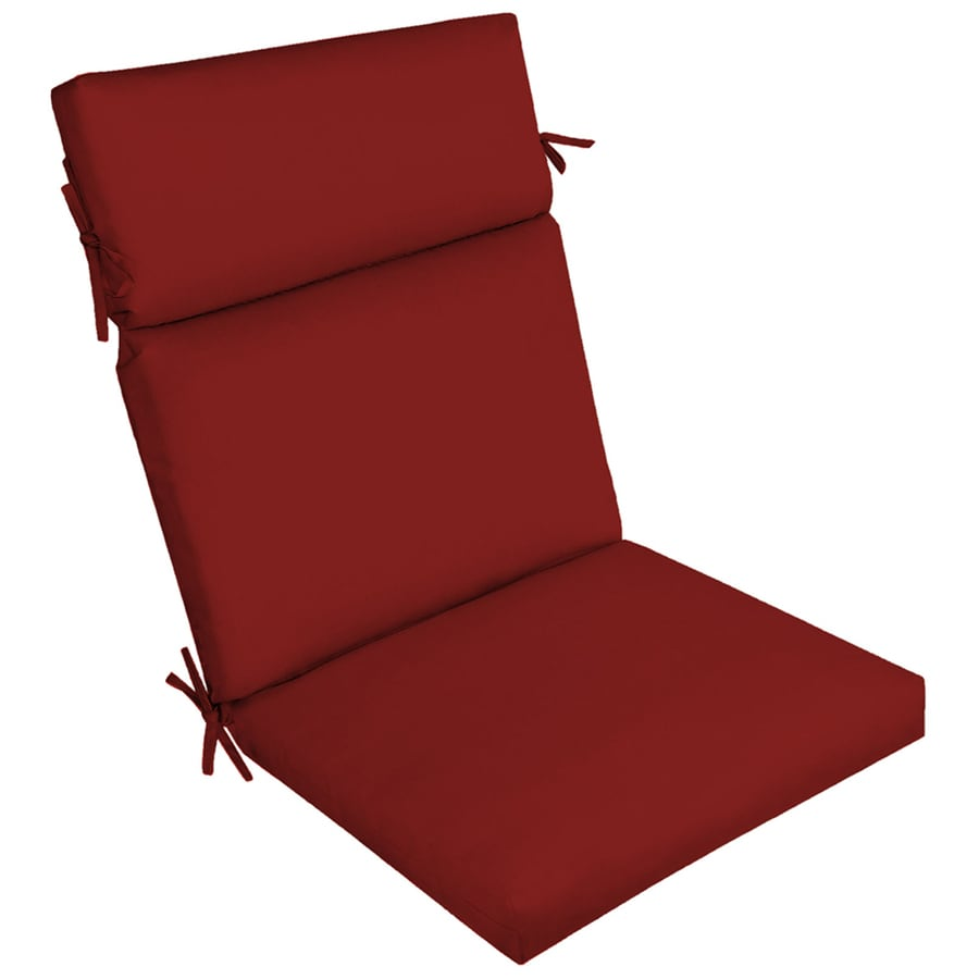 Garden Treasures Red Solid Cushion For Deep Seat Chair