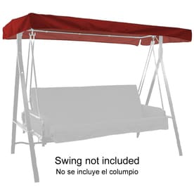 Alfresia Replacement Hammock Cushions Two Seat Garden Patio Swing Bench  With Green Sunshade Lowes Treasures 3