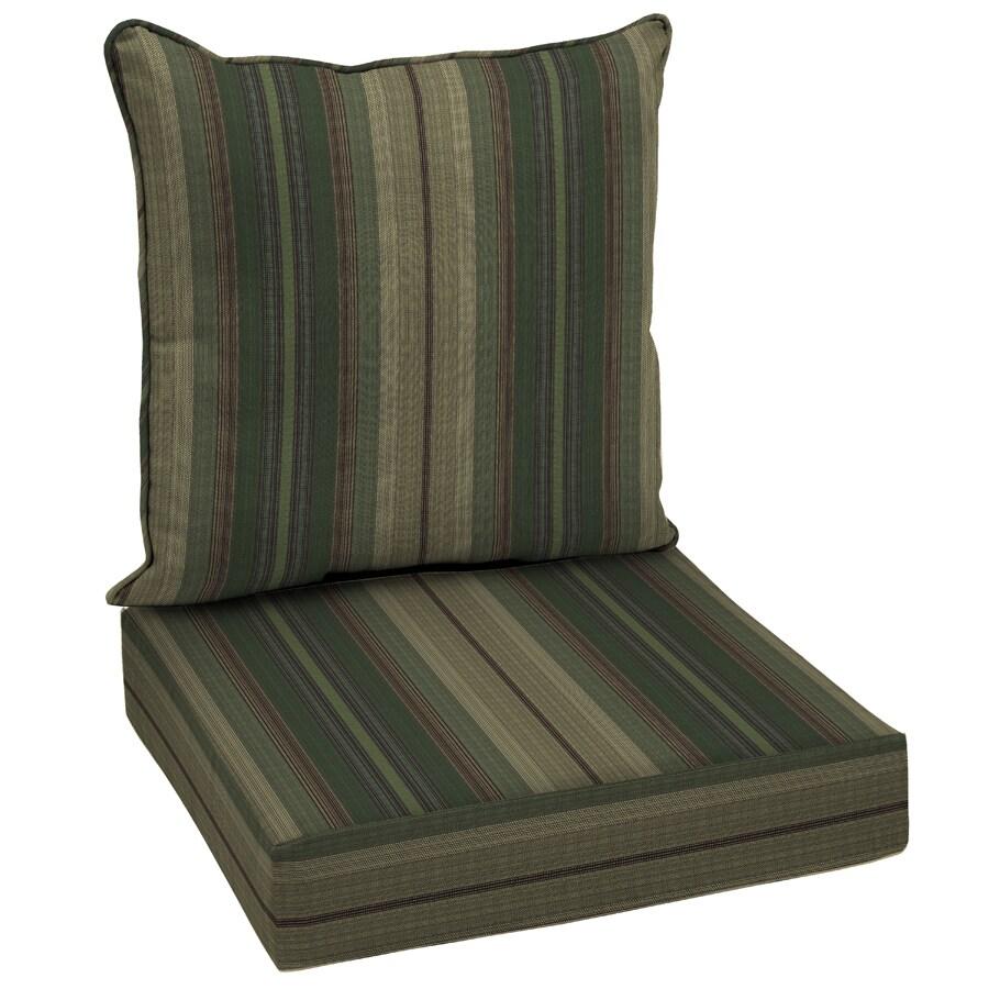 allen + roth Stripe Cushion For Deep Seat Chair