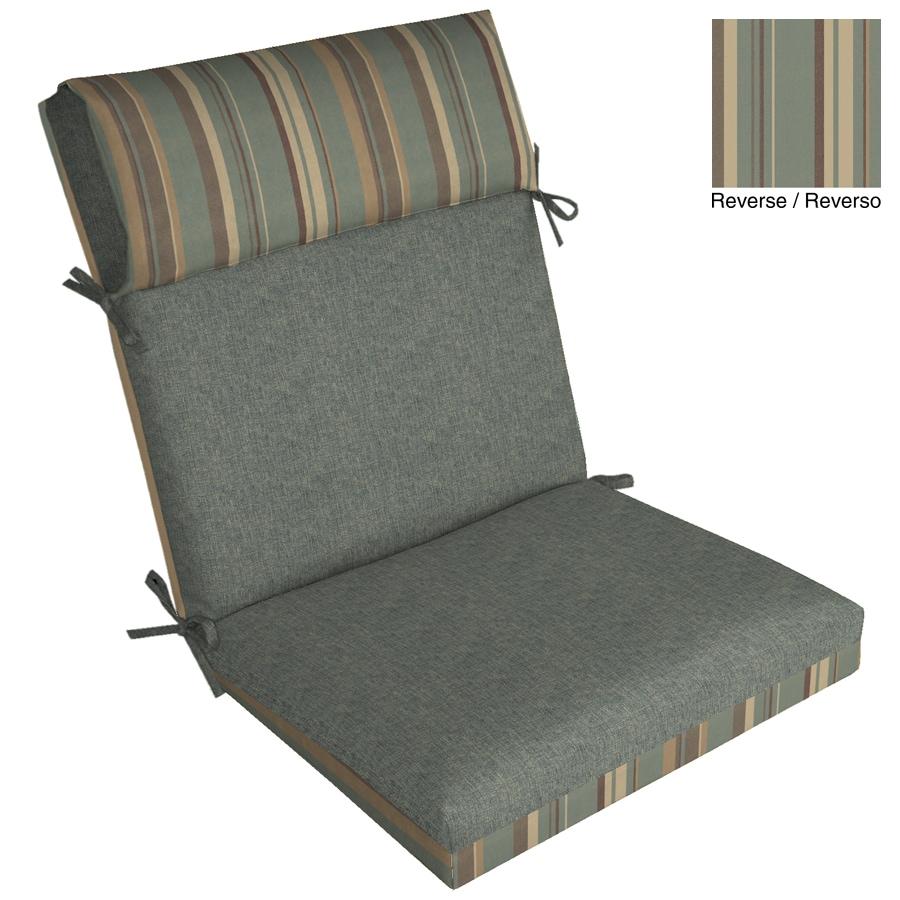"""allen + roth 44""""L x 21""""W Spa Blue Texture Chair Cushion"""