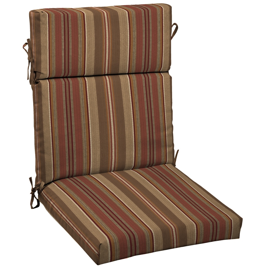 Allen + Roth Stripe Cushion For High Back Chair